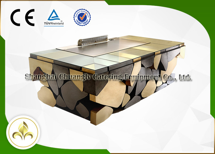 Electromagnetic Induction Teppanyaki Plate Japanese Grill Table Restaurant